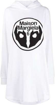 MM6 MAISON MARGIELA Logo Print Sweatshirt Dress