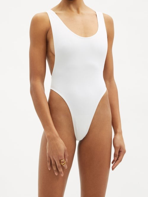 Thumbnail for your product : Norma Kamali Marissa Scoop-back Swimsuit - White