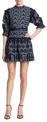 Sea Rosalie Balloon Sleeve Lace Mini Dress