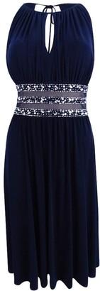 R & M Richards R&M Richards Women's Short Dress with Beaded Waist