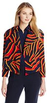Anne Klein Women's Danica Printed Jacket