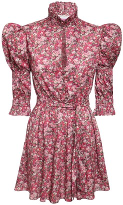 Philosophy di Lorenzo Serafini Liberty Cotton Muslin Mini Dress