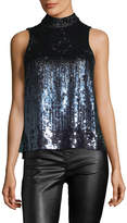 French Connection Women's Starlight Sparkle Top