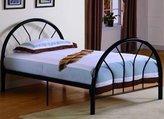 Roundhill Furniture Belledica Metal Bed Set with Headboard, Black, Twin