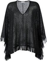 Brunello Cucinelli fringed blouse - women - Silk/Linen/Flax/Polyamide - M