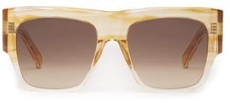Celine Flat-top Acetate Sunglasses - Womens - Beige Multi