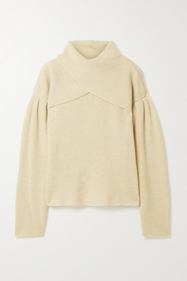 Nanushka Korina Layered Ribbed-knit Sweater - Cream