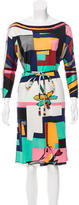 Emilio Pucci Silk Knee-Length Dress