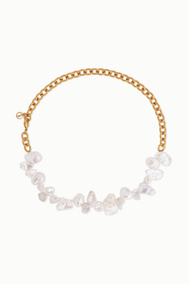 Anissa Kermiche Two Faced Shelley Gold-plated Pearl Necklace
