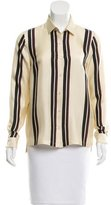 Dries Van Noten Silk Striped Top