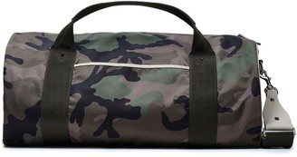 Valentino Leather-trimmed Camouflage Shell Weekend Bag