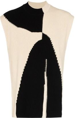 Jil Sander High Neck Knitted Vest