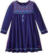 Pink Chicken Farrah Embroidered Dress (Baby) - Solid Blueprint - 6-12 Months