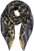 Roberto Cavalli Jewelry Print Twill Silk Square Scarf