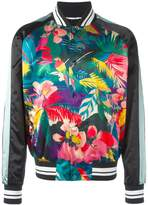 Valentino tropical print bomber jacket