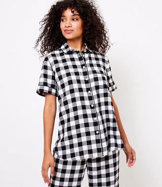LOFT Buffalo Plaid Pajama Top