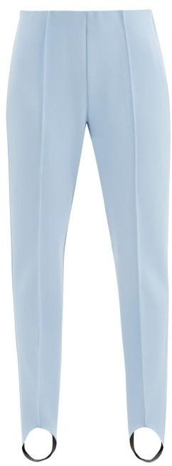 Bogner Elaine Stretch-jersey Slim-leg Stirrup Trousers - Light Blue