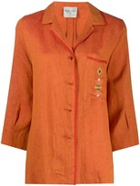 Forte Forte contrast trim embroidered detail jacket