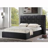 Asstd National Brand Baxton Studio Prenetta Modern Bed with Upholstered Headboard