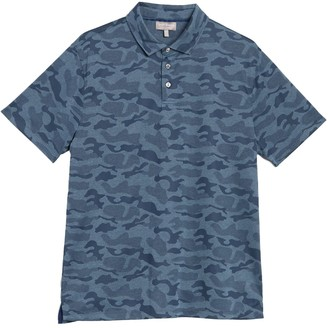 Hickey Freeman Camo Jacquard Polo Shirt