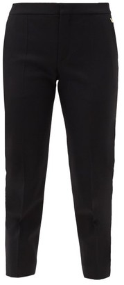 Chloé Cropped Wool-blend Slim-leg Trousers - Black