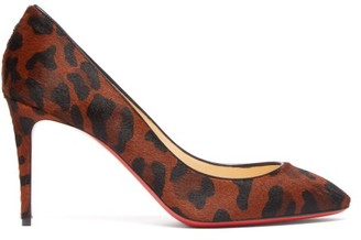 Christian Louboutin Eloise 85 Leopard-print Calf-hair Pumps - Leopard