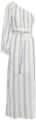 Vanessa Bruno One-shoulder Striped Cotton-gauze Maxi Dress