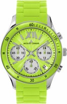Jacques Lemans Rome Sports 1-1587F 37mm Stainless Steel Case Silicone Mineral Women's Watch