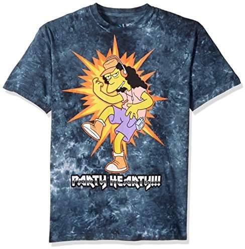 926fae12268 Men's Simpsons Metal Rules Tie Dye Short Sleeve T-Shirt, Multi