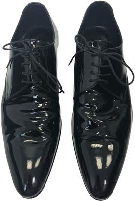Christian Dior Black Patent leather Lace ups