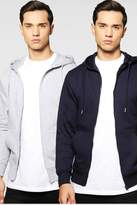 Boohoo 2 Pack Zip Through Hoody