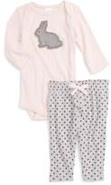 Nordstrom Appliqué Bodysuit & Pants Set (Baby Girls)