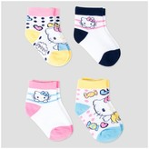 Hello Kitty Toddler Girls' Casual Socks 4pk - White
