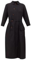 Comme des Garcons Peter Pan-collar Canvas Shirt Dress - Womens - Black