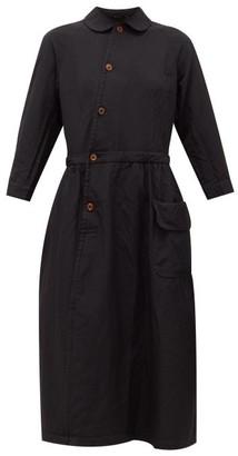Comme des Garcons Peter Pan-collar Canvas Shirt Dress - Womens - Black