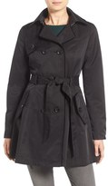Betsey Johnson Women's Corset Back Trench Coat