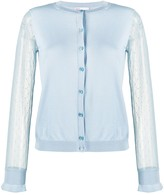 RED Valentino point d'Esprit tulle sleeved cardigan