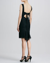 Nicole Miller Lace Cocktail Dress with Cutout Back