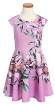 Hannah Banana Toddler Girl's Floral Print Skater Dress