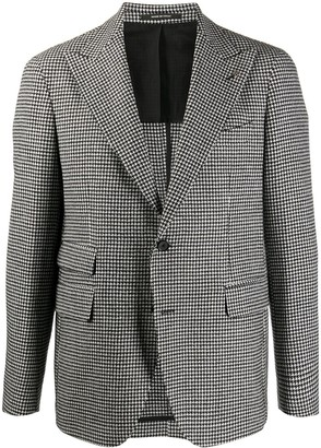 Tagliatore Houndstooth Single-Breasted Coat