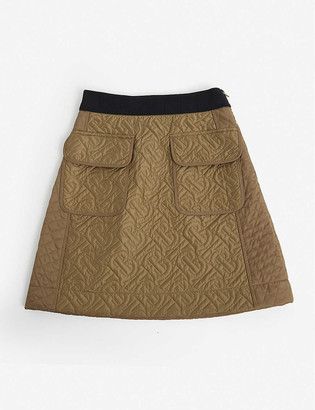 Burberry Frances quilted satin skirt 4-14 years