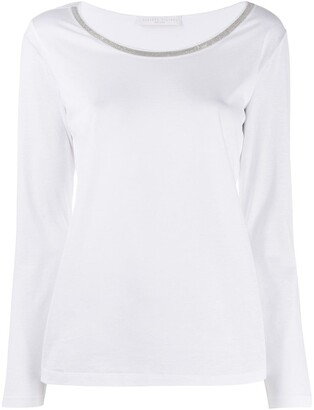 Fabiana Filippi ball-chain trim T-shirt