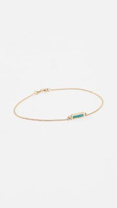 Jennifer Meyer 18k Gold Inlay Short Bar Bracelet