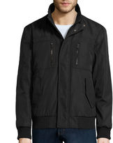 Claiborne Ripstop Stand Collar Knit Bomber Jacket