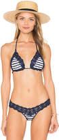 Anna Kosturova Sailor Bella Bikini Top in Navy. - size S (also in XS)
