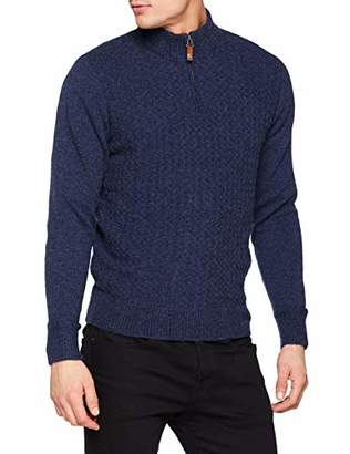 Ben Sherman Men's Quarter Zip Funnel Neck Jumper,X-Small