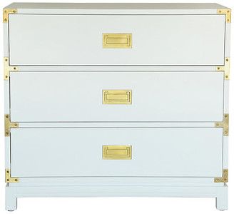 Ave Home Carlyle Campaign Dresser - White