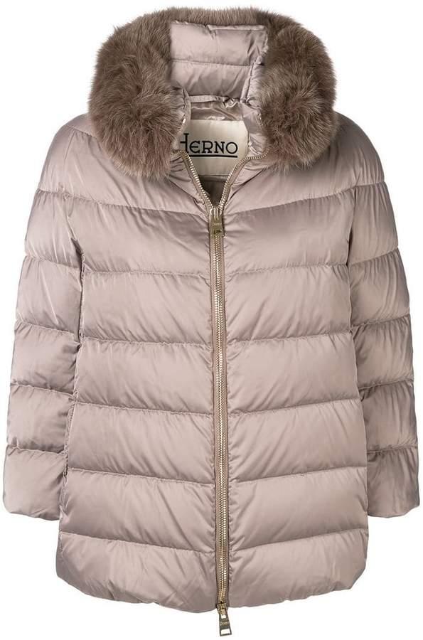Herno collar trim padded jacket
