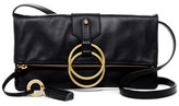 Badgley Mischka Leather Campaign Clutch