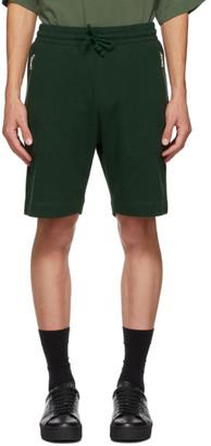 Dries Van Noten Green Cotton Zip Shorts